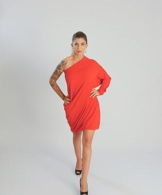 FlexiFab Dress Deep Red