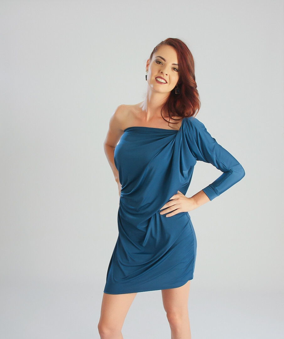 FlexiFab Dress Teal Blue