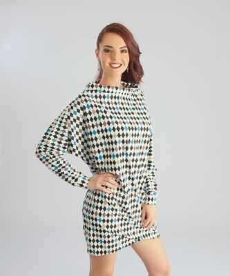 FlexiFab Dress Diamond Print