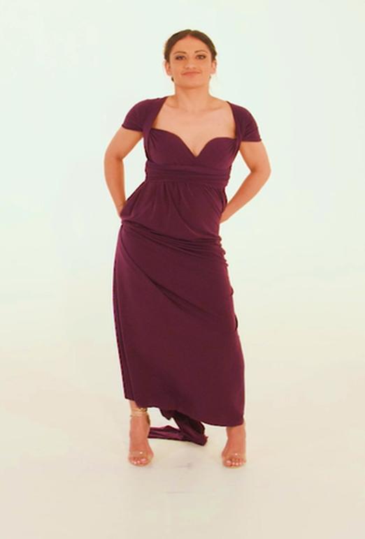 Wrap Dress - Black Friday - Burgundy (Min 4 Pcs at R399 each)