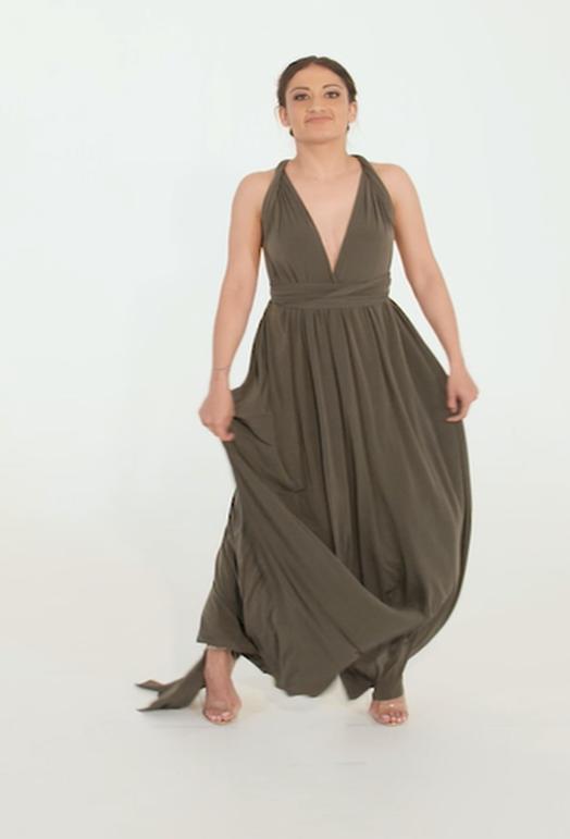 Wrap Dress - Black Friday - Olive Green (Min 4 Pcs at R399 each)