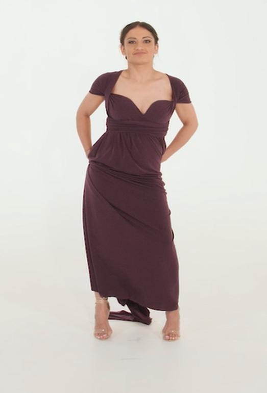 Wrap Dress - Black Friday - Plum Purple (Min 4 Pcs at R399 each)