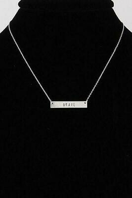 Be Brave Daily Necklace