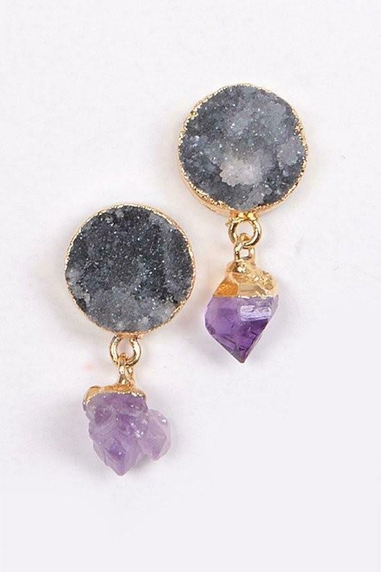 Delicate Stone Earrings