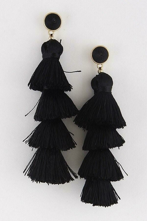 Linked Tassel Earrings