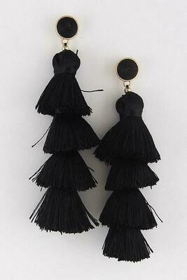 Linked Tassel Earrings