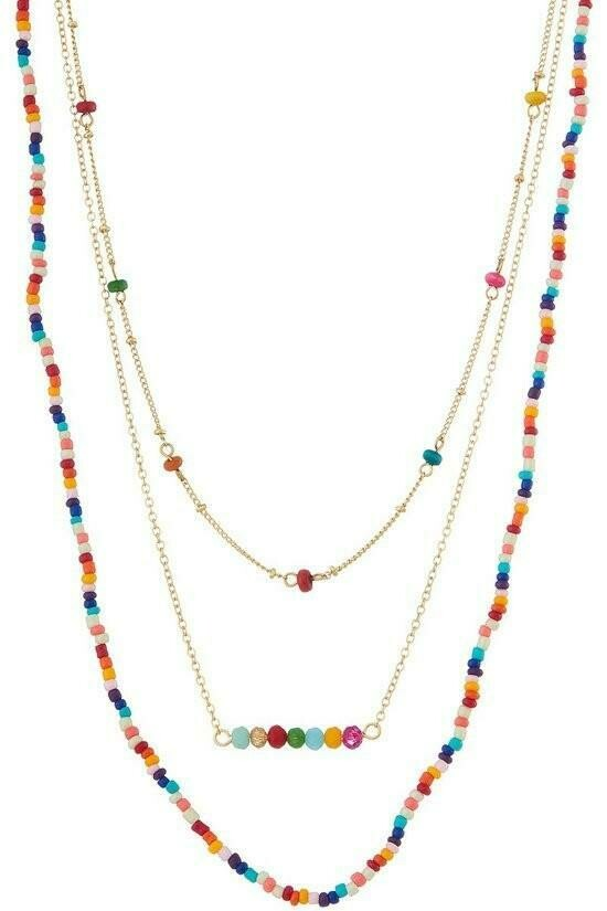 Multi-Bead Layered Necklace