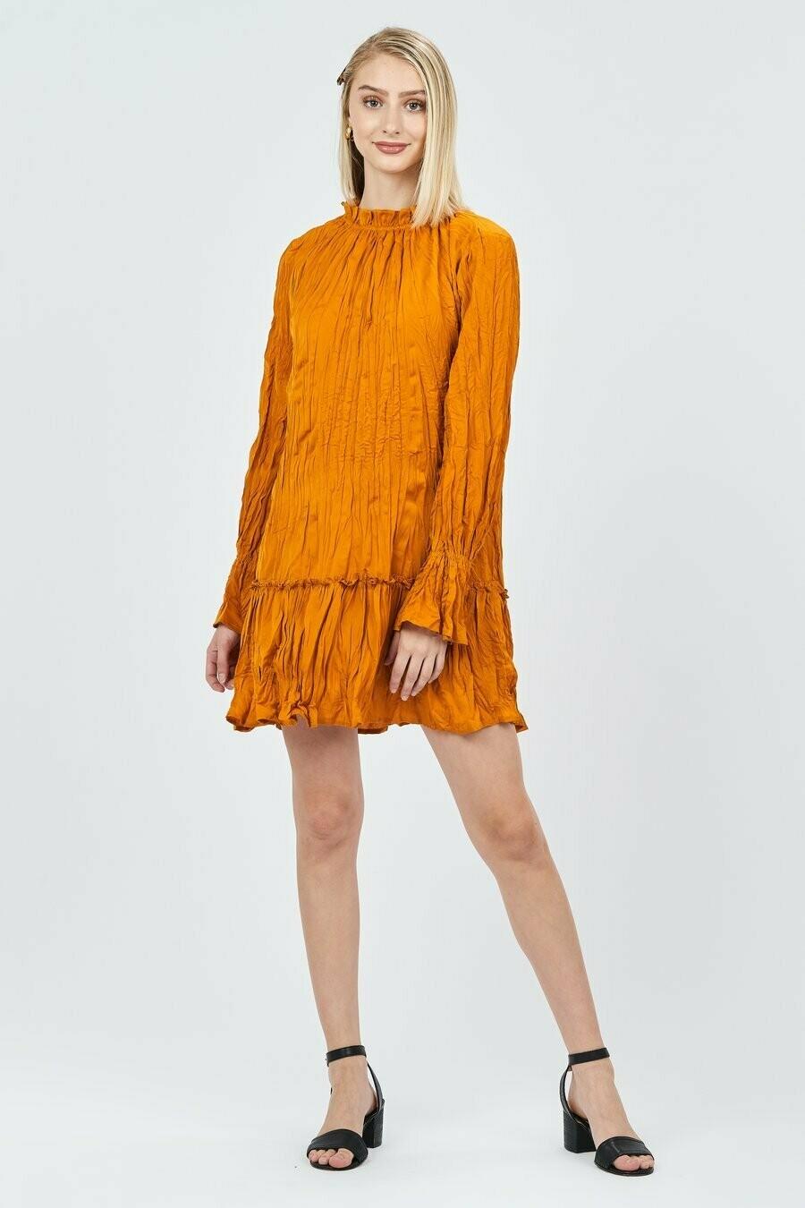 Mustard Ruffle Dress
