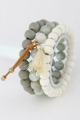Tassel Stone Beaded Bracelet