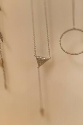Clock it Triangle Necklace