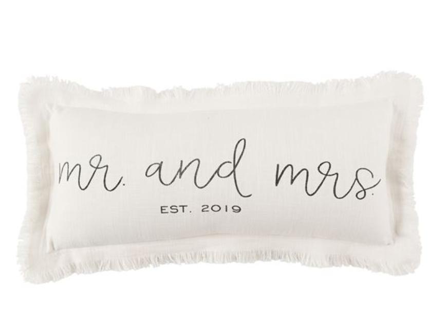 Est. 2019 Frayed Lumbar Pillow