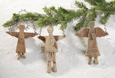 Barnwood Angel Ornaments