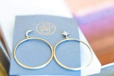 Pie In the Sky Hoop Earrings