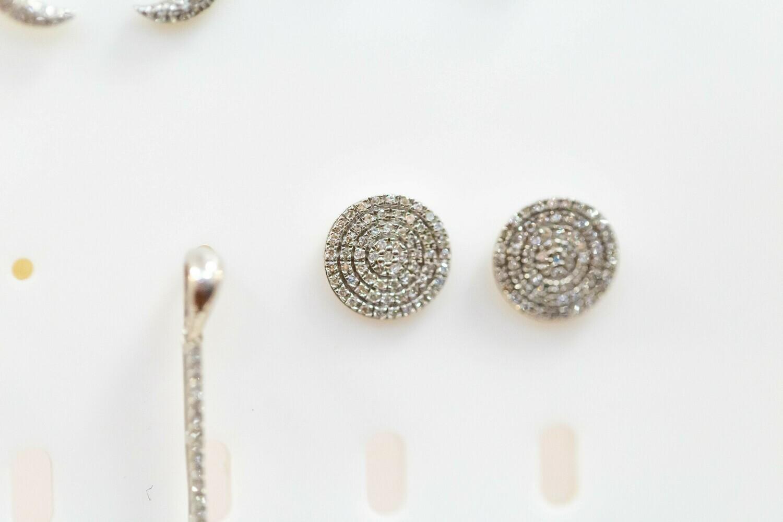 Circle Diamond Earrings - E- 10281