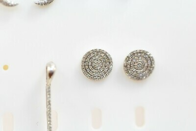 Circle Diamond Earrings - E- 10281