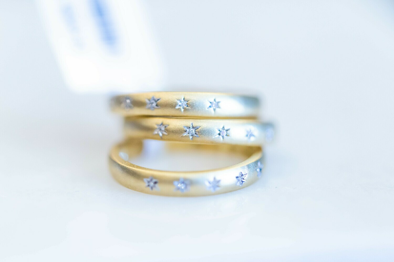 Medium Starlight Diamond Ring