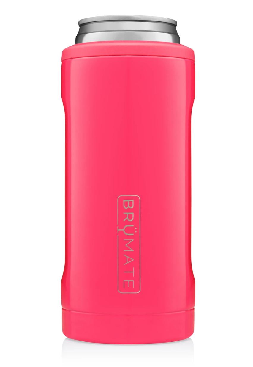 Hopsulator Slim Insulated Slim-Cooler   Neon Pink