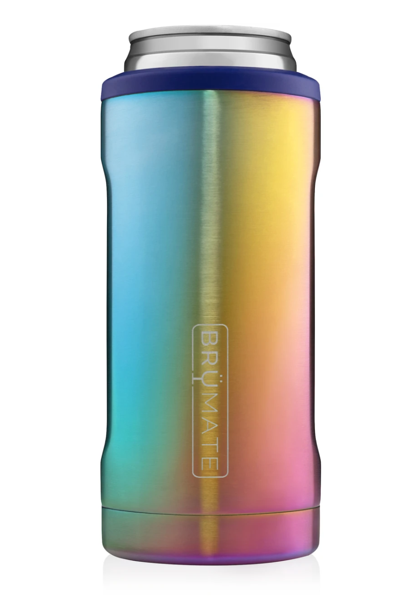 Hopsulator Slim Insulated Slim-Cooler Rainbow Titanium
