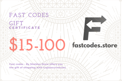 Fast Codes - By Sheldon Store Gift Card