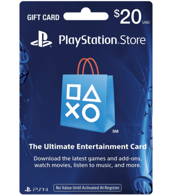 PlayStation Store $20 Gift Card (SMS/Email Delivery)