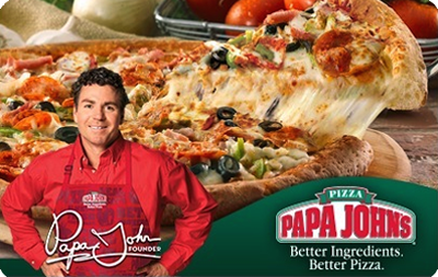 Papa John's Pizza $100 Gift Card (Email/SMS Delivery)