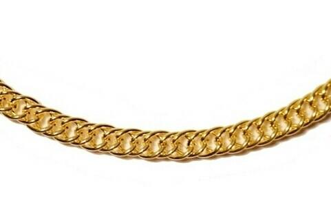 Bright gold chain necklace