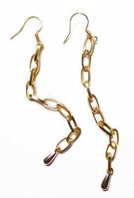 Drop chain earrings