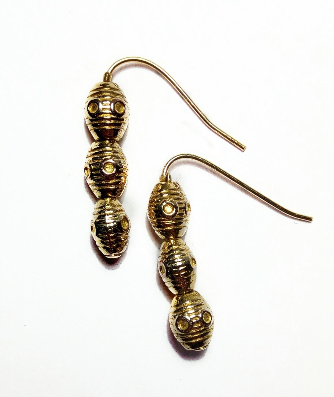 Three bead earrings