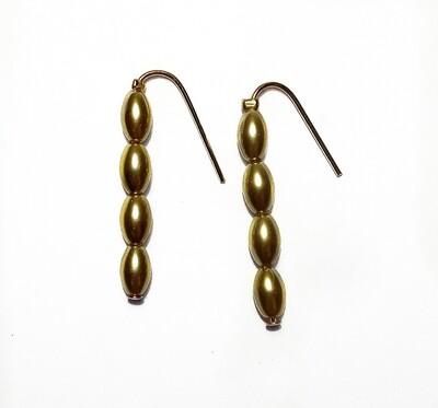 Four bead earrings