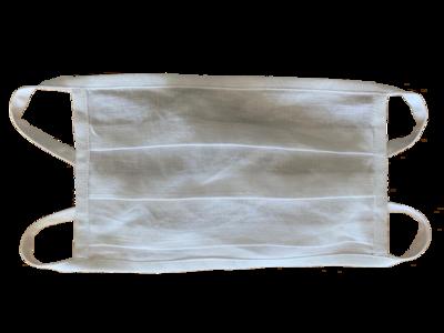 Leinenmaske im 3er-Pack WEISS