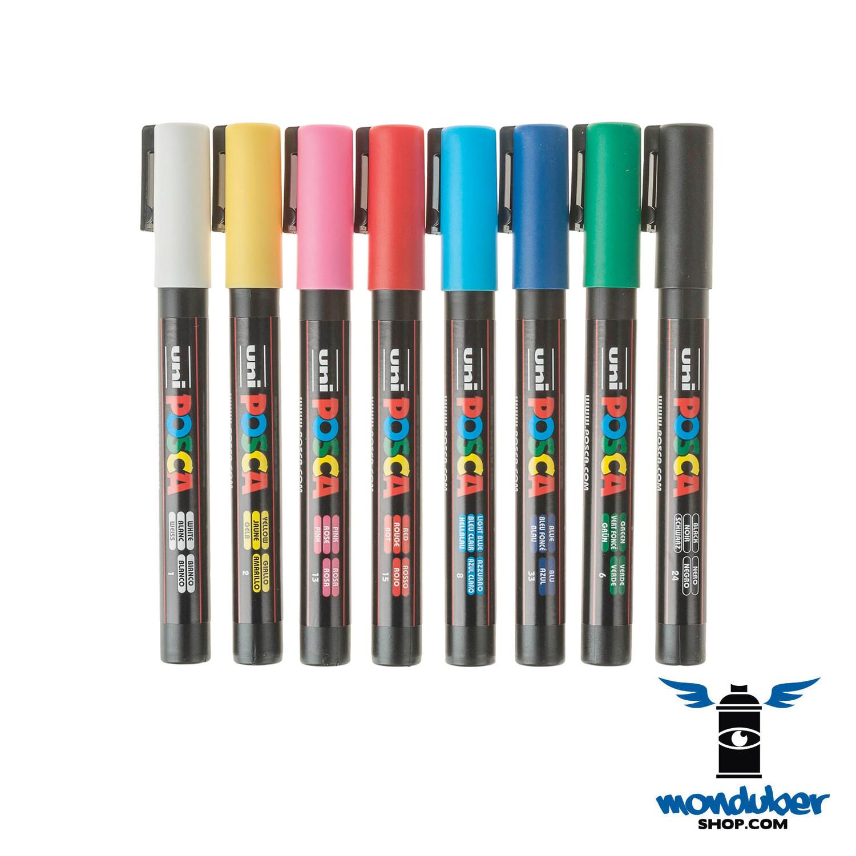 POSCA - PC5M x 8 - Juego de 8 Marcadores de Pintura