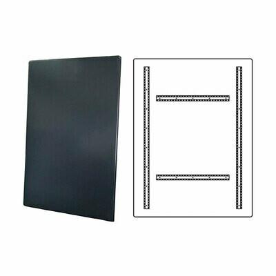 Cartello in all 25/10 semilavorato grigio cm 90x135 (doppia base) 4 canaline
