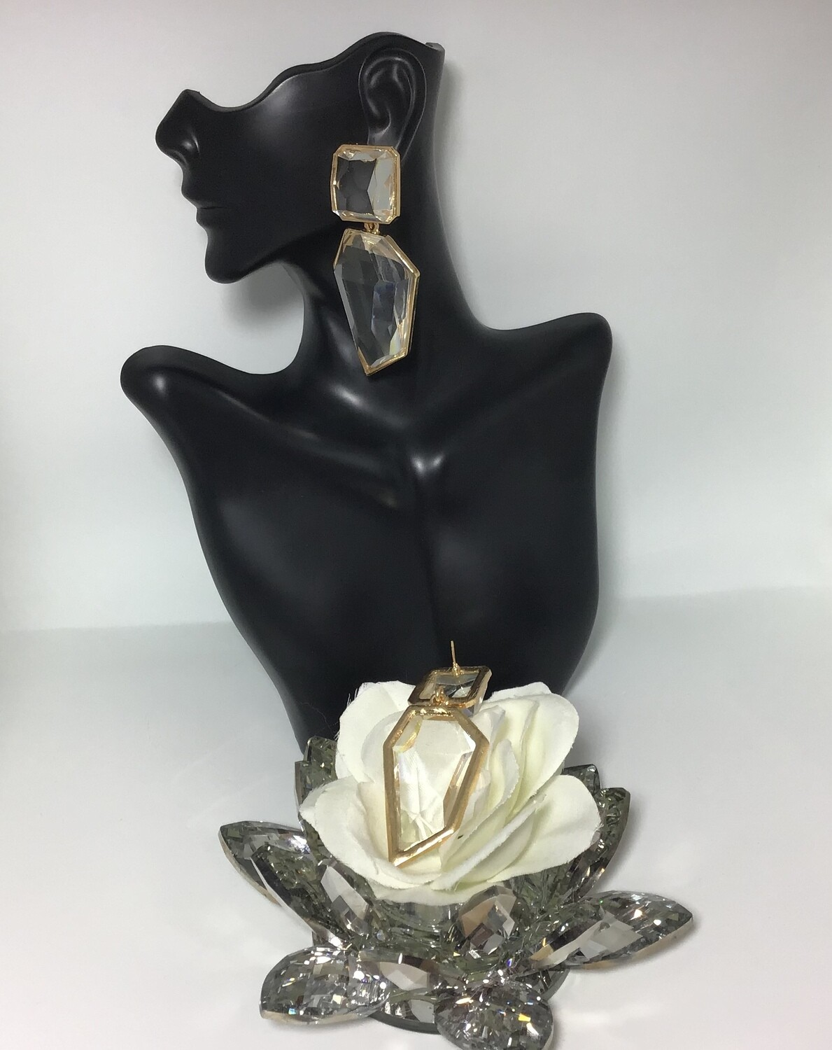 Bougeoirs  Crystal Clear earrings