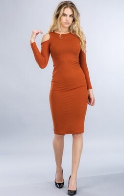 Amber Rose Cut out Rustic Dress