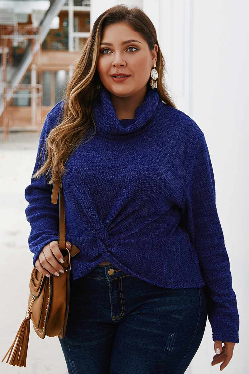Blue Doll knitted ze Sweater