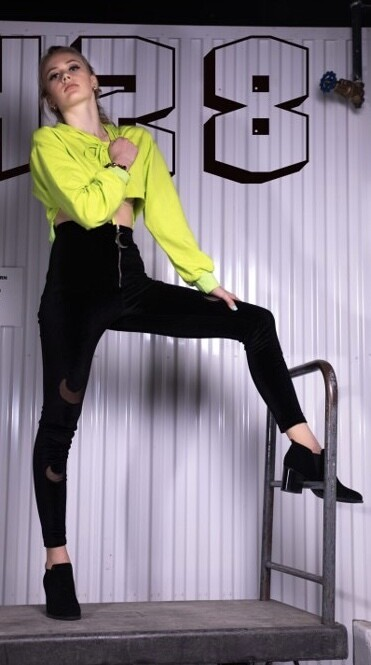 Over the Moon , black Crescent Pants