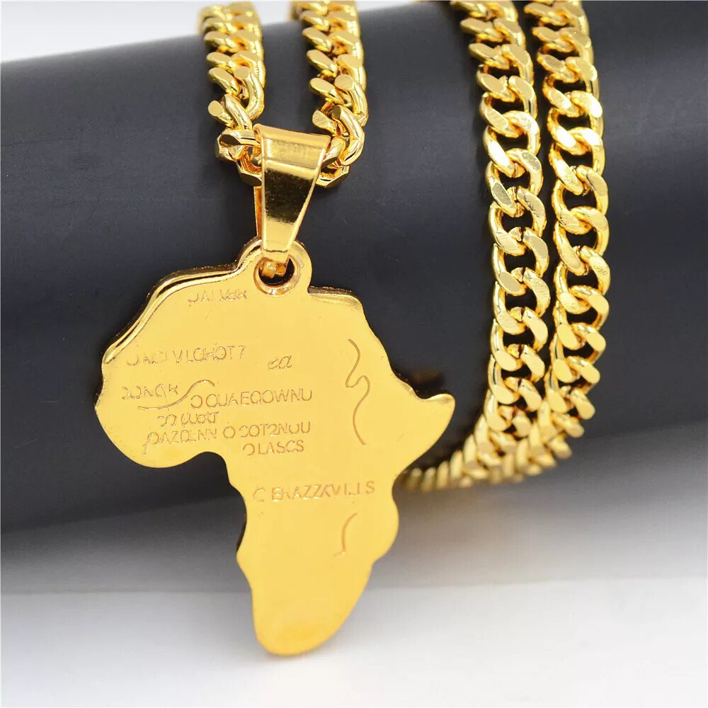 Chief Map of Africa Pendant Necklace