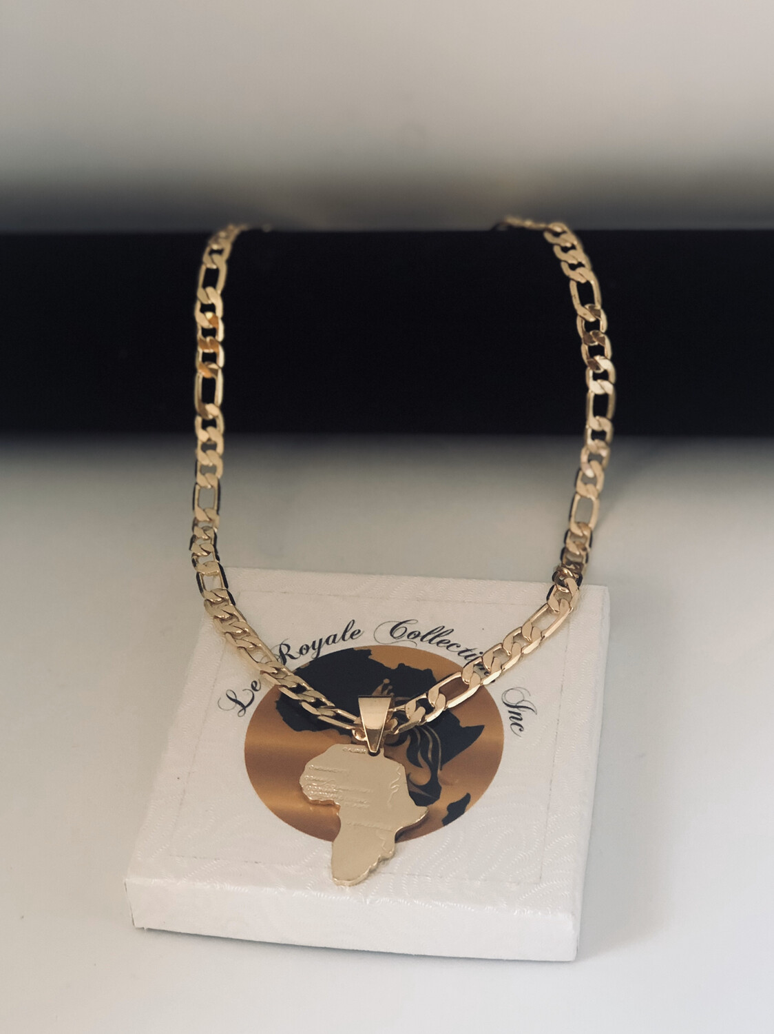 The Emperor  Map of Africa Necklace