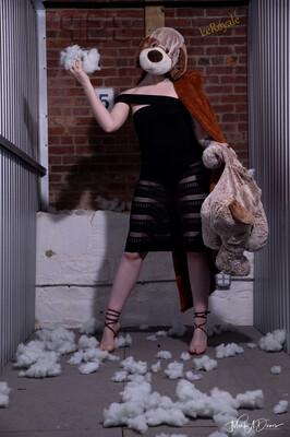 Sweet Spice, black mesh dress