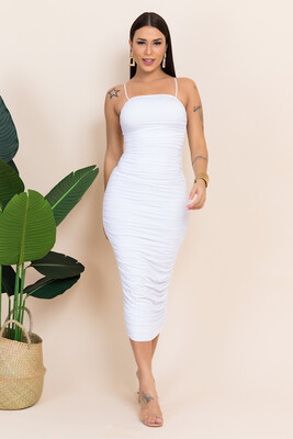 The Angelic Swan White Midi Bodycon dress