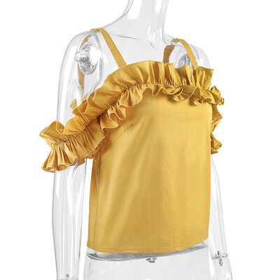 Sunflower Yellow Ruffled blouse