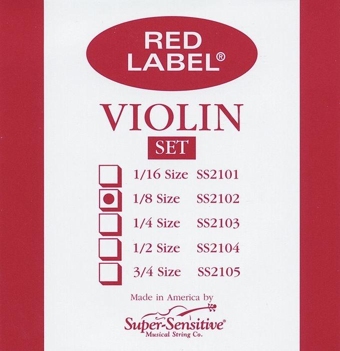 Red Label Violin Strings