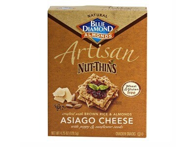 Blue Diamond Artisan Nut Thins - Asiago Cheese
