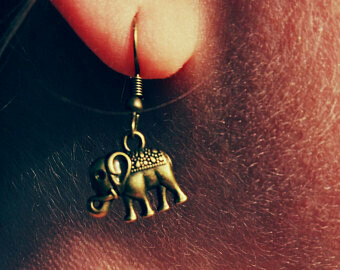 Bronze eLePHaNT Earrings *free scented gift bag*
