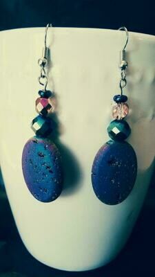Prismatic Rock Drop Down Earrings *free scented gift bag*