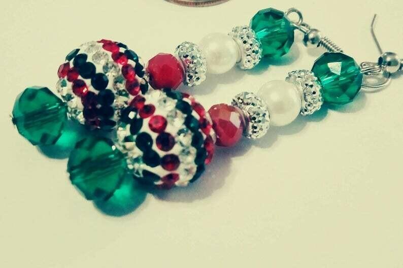 SHiNY ChRisTmAS Earrings *free scented gift bag*