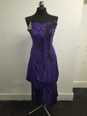 Purple tie dye corset dress