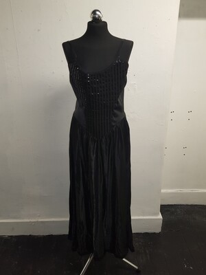 Black dress with strips