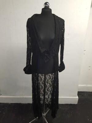 Dark star lace long jacket