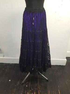 Dark star black purple lace